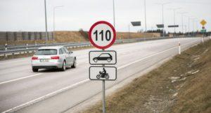 Lubatud kiirus 110 km/h